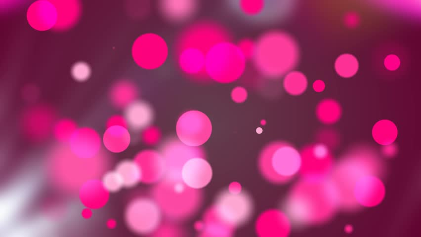 Festive Bokeh Pink Abstract Motion Stock Footage Video