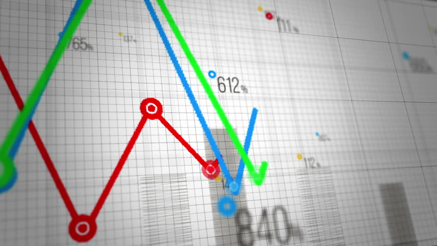 Growing charts. Loop able. Financial figures and diagrams showing increasing profits.Four colors to choose. | Shutterstock HD Video #7603027