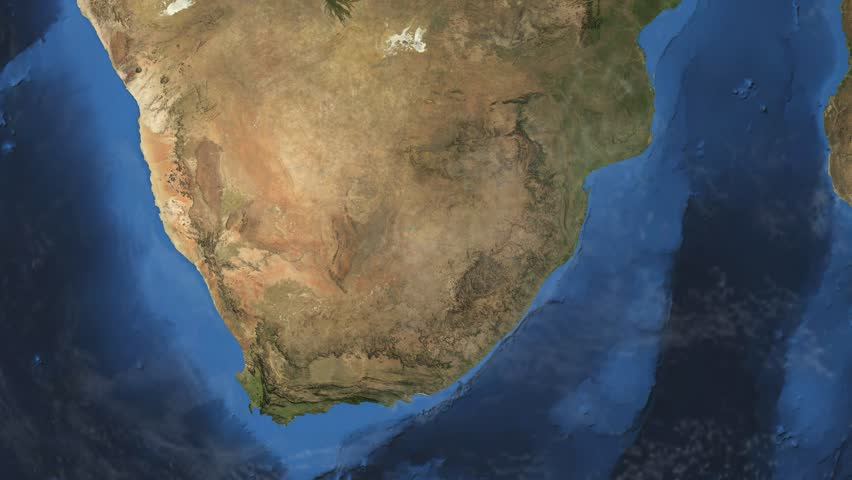 Satellite Image Of South Africa Image - Free Stock Photo -4623