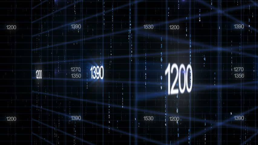 Line together with digital numbers (technology background) | Shutterstock HD Video #7636456