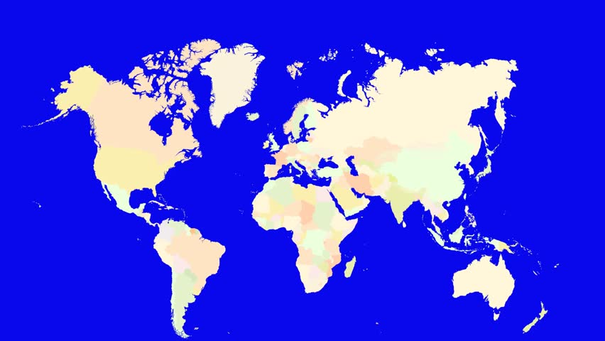 A Pin Marks The Country Norway On A World Map The Camera Zooms In - Norway map hd