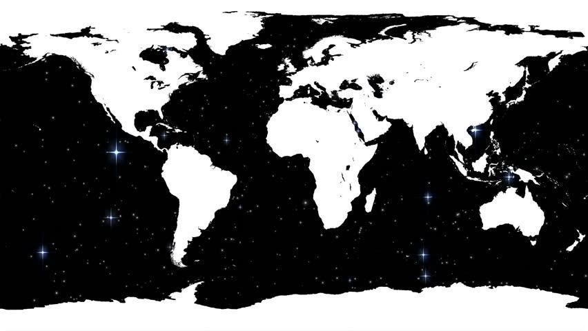 World Map High Tech Digital Satellite Data View War Room Loop - World map satellite hd