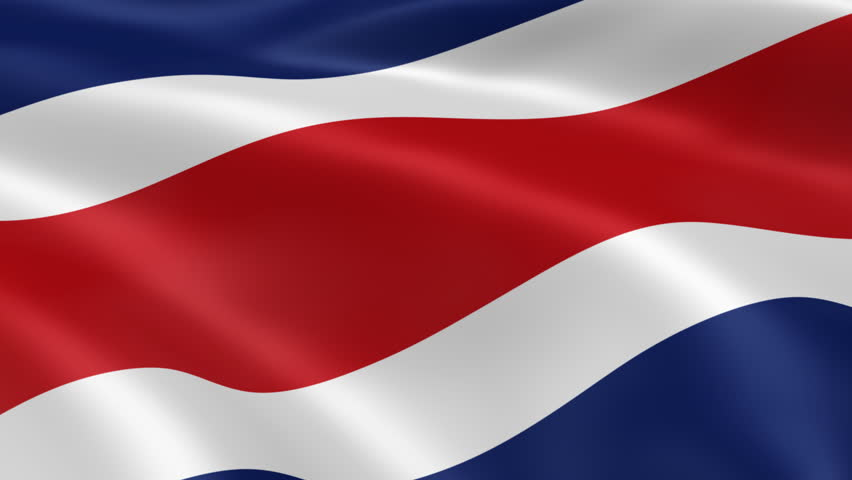 Costa Rican flag in the wind. Part of a series.