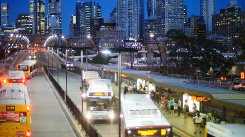 Commute out of Brisbane city time lapse. Brisbane, Queensland, Australia. October 2014.