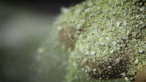Sand Through Fingers - A macro high speed shot capturing sand falling through fingers.
