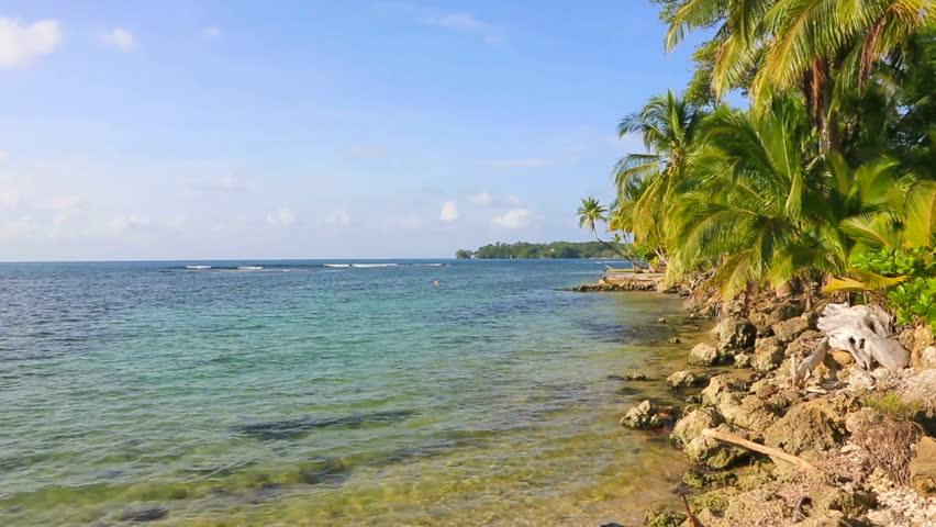 Deserted Boca Del Drago Beach On The Archipelago Bocas Toro Panama