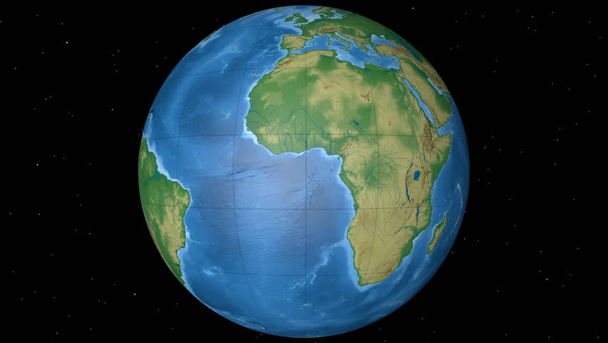 Physical World Globe - Equatorial. Stock Footage Video (100% Royalty on