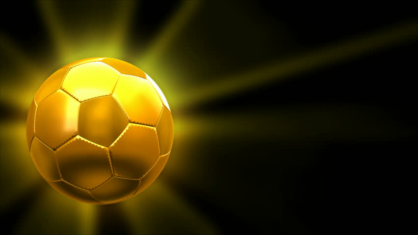 391d8cc84 Cgi Golden Soccer Ball - Stock Footage Video (100% Royalty-free ...