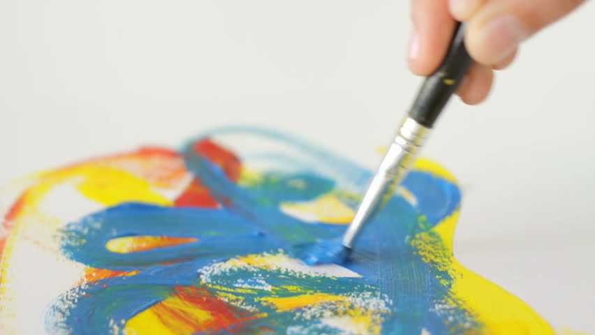 Ipad Retina Wallpaper Art Pain Brush: Peace Of Mind Stock Footage Video