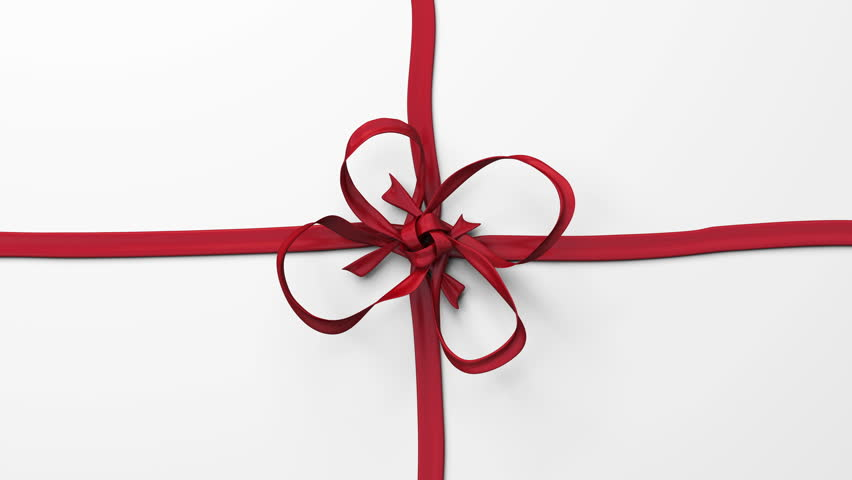 Red ribbon, tying bows. Includes alpha channel and different colors. | Shutterstock HD Video #7940551