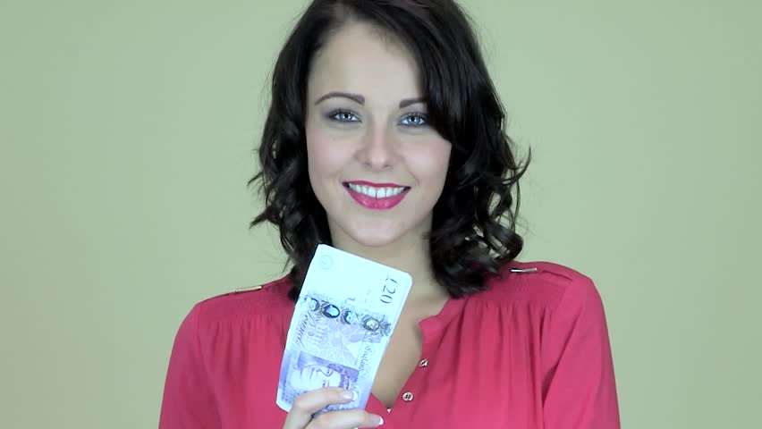 Attractive Young Woman Holding Cash | Shutterstock HD Video #7955812