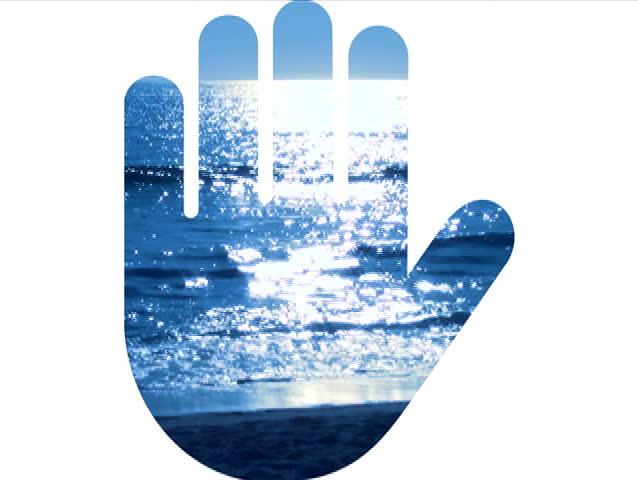 Hand print symbol ocean V1 - NTSC | Shutterstock HD Video #800872