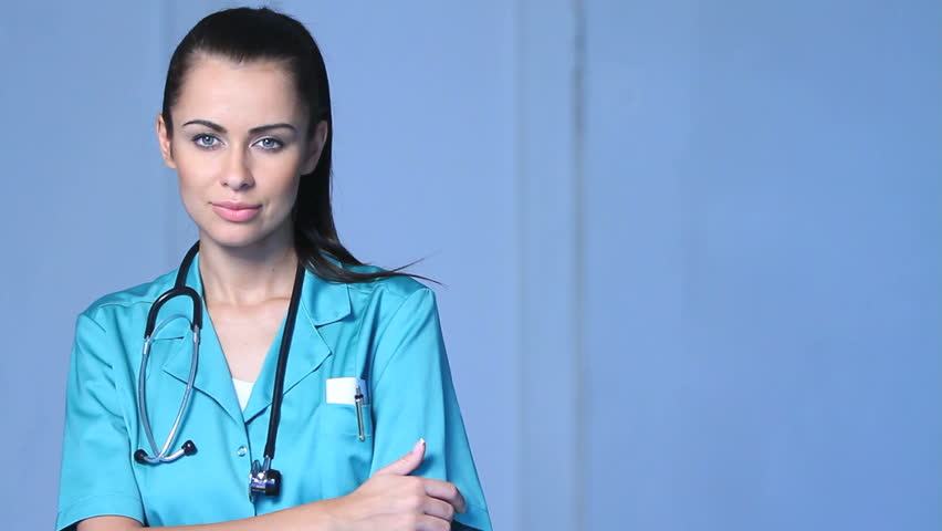 Portrait Of Beautiful Female Doctor Stock Footage Video -7770
