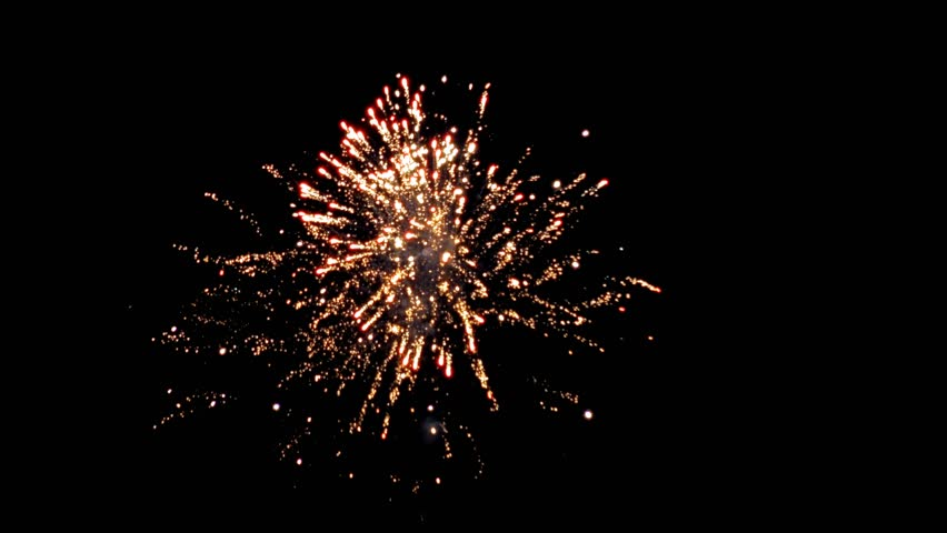 Fireworks Display Good Quality Black Background Stock ...