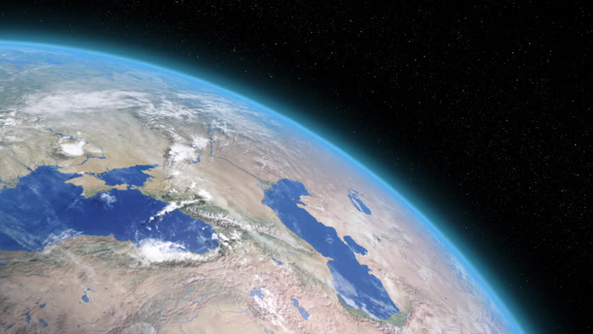 close up of rotating earth stock footage video  100
