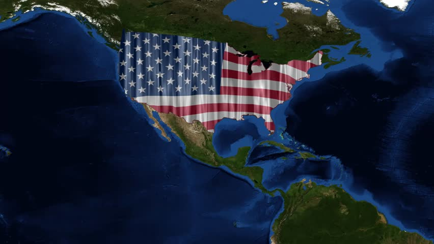 United States Of America Map Stock Footage Video Shutterstock - Us map at night
