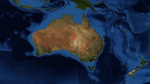 New Zealand from space. New Zealand is an island country in the southwestern Pacific Ocean. North Island, or Te Ika-a-M?ui, and the South Island, or Te Waipounamu Footage composite from NASA images.