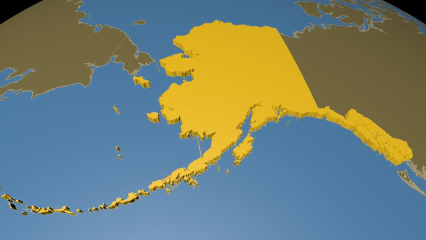 Alaska Extruded On the World Stock Footage Video (100% Royalty-free)  8085952 | Shutterstock