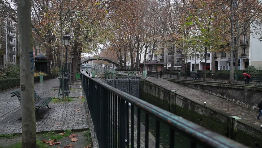 Canal Saint Martin in Paris, France. | Shutterstock HD Video #8122312