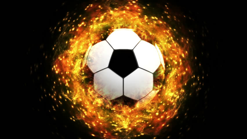 The Ball On Fire Soccer Football Sports Qhd Wallpaper 2: Fiery Soccer Ball Stock Footage Video (100% Royalty-free