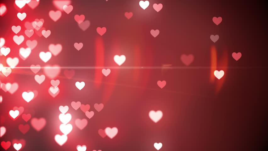 Digital Animation Of Glittering Hearts Stock Footage Video