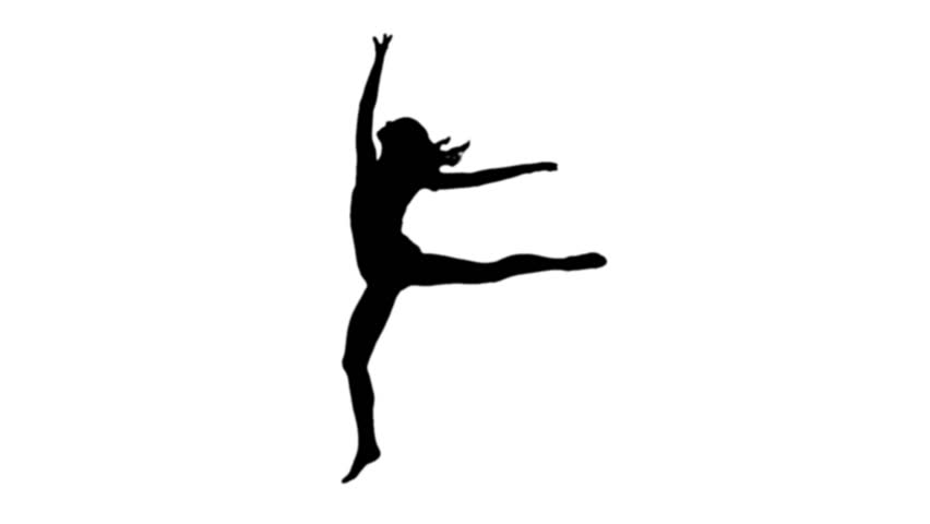 ballerina silhouette stock footage video shutterstock Dancer Silhouette Clip Art Western Square Dance Clip Art