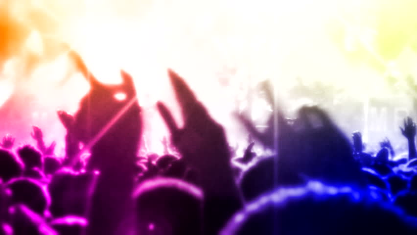 Crowd at concert  ( Series 14 + Version from 1 to 10 )  | Shutterstock HD Video #8167492