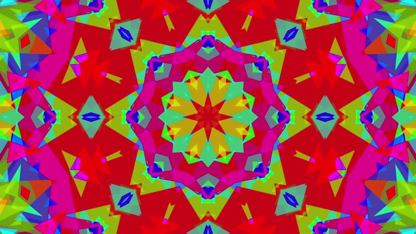 Fast Psychedelic Colorful Kaleidoscope VJ background loop 4 Complex and very fast. Mandatory epilepsy warning. Easy to tint or otherwise modify.