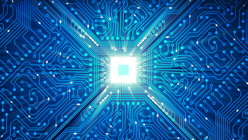 Animated Printed Circuit Board Background Stock Footage