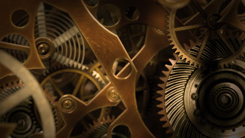 Inside a clock, infinite zoom into the clockwork mechanism. A 3d animation. | Shutterstock HD Video #8265562
