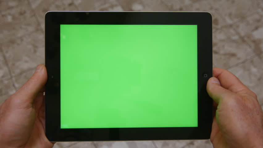 Los Angeles, CA.-  Circa 2014.  An iPad With Green-Screen is Used by a Man. | Shutterstock HD Video #8279182