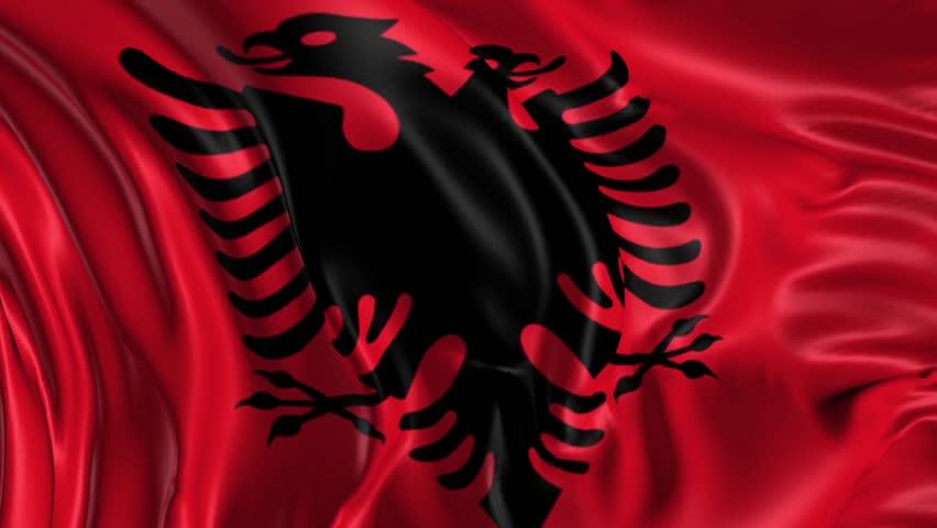 Flag Of Albania Beautiful D Animation Of The Albania Flag In Loop - Albania flag