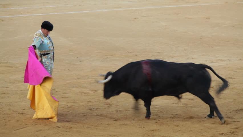 La Linea de la Concepcion, Spain - 19 July 2013: Traditional Spanish bullfighting.
