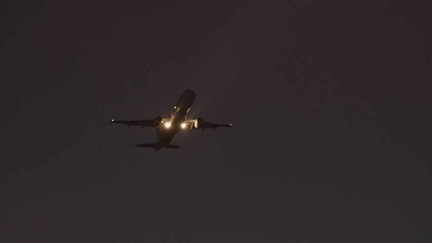 Real Time Telephoto Shots Of A Passenger Planes Taking Off At Dusk Plane Who