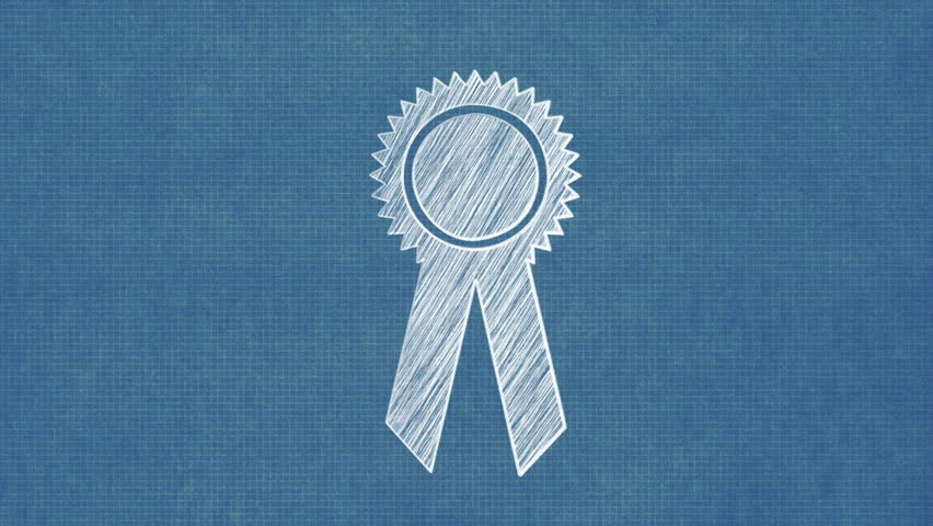 Prize ribbon blueprint stop motion style animation stock footage prize ribbon blueprint stop motion style animation stock footage video 8367982 shutterstock malvernweather Images
