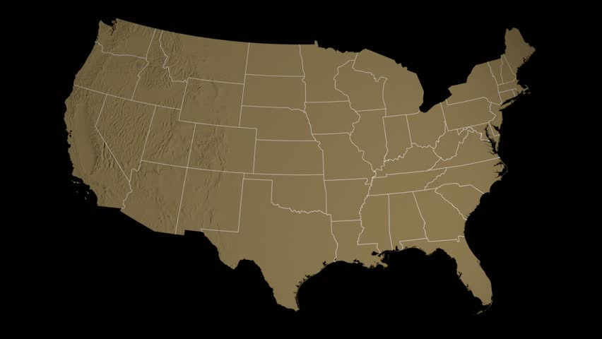 USA Ohio State Columbus Extruded On The Elevation Map Of The - Us map ohio state