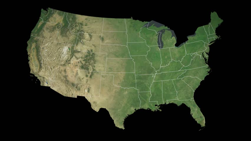 USA Georgia State Atlanta Extruded On The Physical Map Of The - Us map day nasa