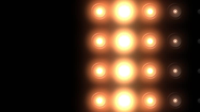 Golden floodlights flashing in different variations | Shutterstock HD Video #8488282