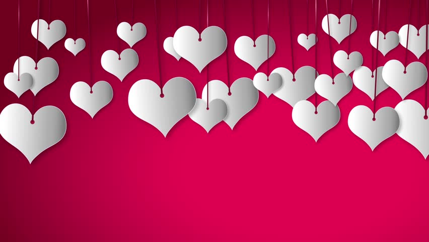 Valentines Day White Heart Babbles Stock Footage Video 100