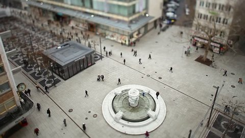 Germany Frankfurt City Day Tilt Shift Timelapse