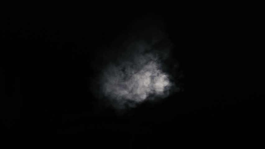 White smoke coming from center against a black background | Shutterstock HD Video #8513182