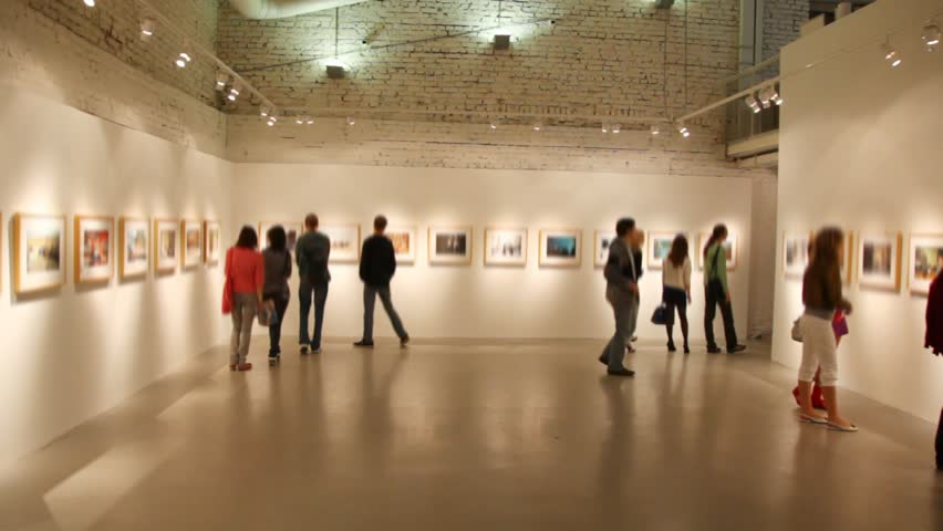 MOSCOW - CIRCA 2010: People tour Winzavod-Contemporary Art Center in Moscow