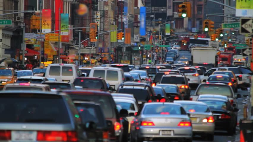 New York street, rush hour