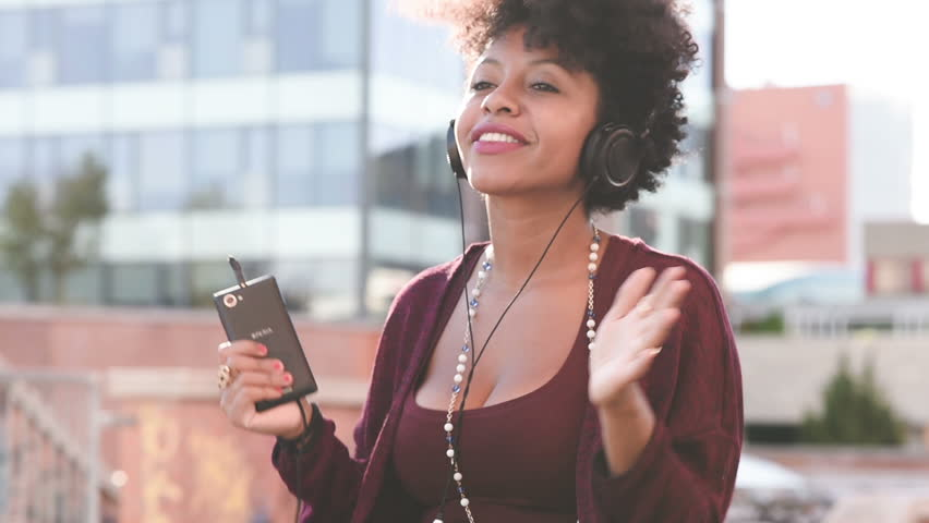 Image result for african girl listening to music