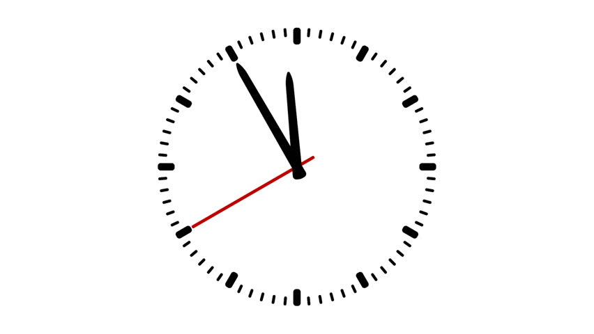 moving clock animation. animated clock on white background with red second arrow stock footage video 8617702 shutterstock moving animation e