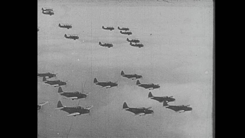 EUROPE - CIRCA 1942-1944: World War II, US Fighter Planes in Flight | Shutterstock HD Video #8624692