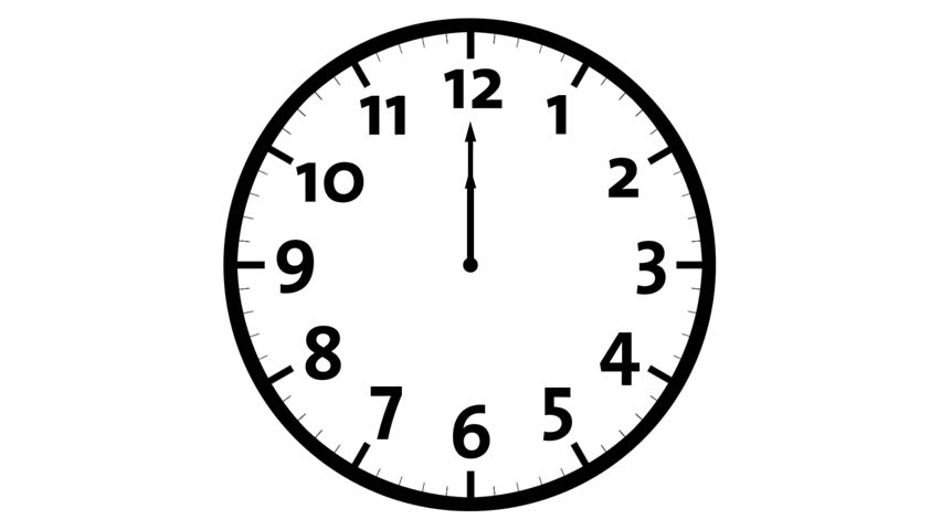 Animated Clock Counting Down 12 Hours, Seamless Loop Animation ...