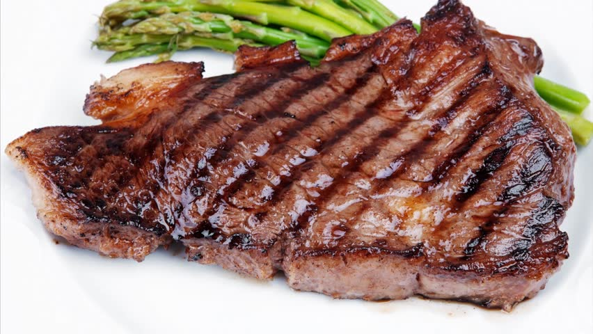 Meat Table Grilled Beef Fillet With Asparagus Dish 1920x1080 Intro Motion Slow Hidef Hd