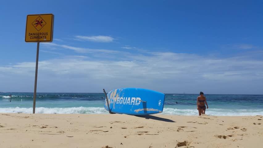 Bondi Beach Sydney Australia Bondi Beach Lifeguards At Bondi Bay A Popular