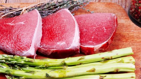 Meat Food : Raw Beef Stock Footage Video (100% Royalty-free) 3970507